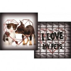 16564 - ALMOFADA I LOVE MY PET G (58X58)